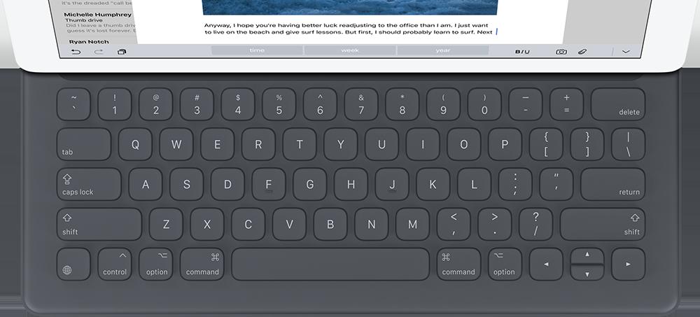 iPad Pro Smart Keyboard Large Le clavier intelligent de liPad Pro lancé en QWERTY uniquement