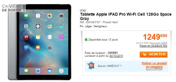 iPad Pro wi fi 128 Go LiPad Pro est disponible en précommande en France et les prix sont connus !