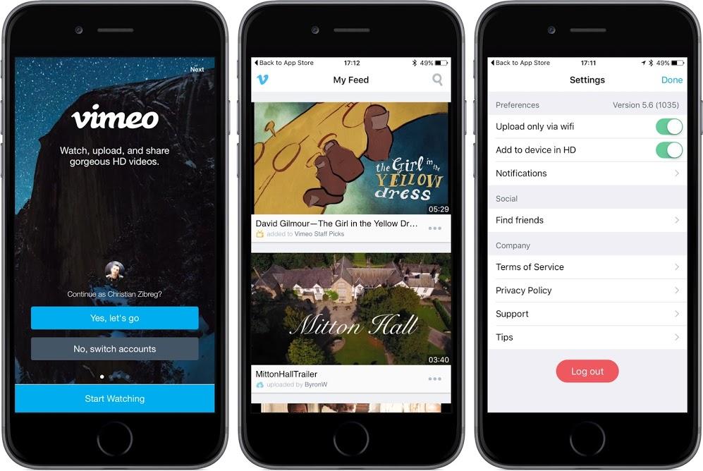 Vimeo désormais optimisé pour iOS 9