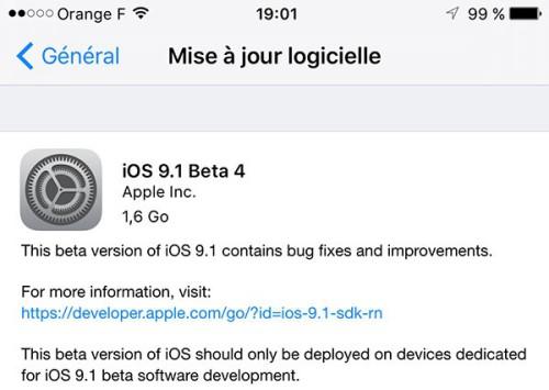 ios 9 1 beta 4 est disponible pour les developpeurs 600x426 500x355 iOS 9.1 bêta 4 disponible pour les développeurs et le grand public