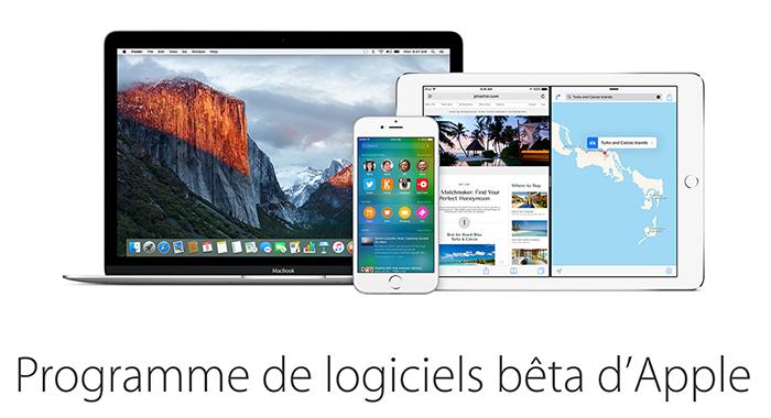 programme apple beta test1 iOS 9.3 et OS X 10.11.4 disponibles pour les bêta testeurs publics