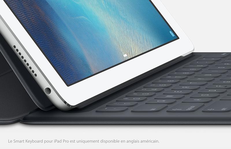 smart keyboard Le clavier intelligent de liPad Pro lancé en QWERTY uniquement