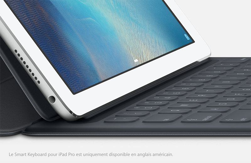 smart keyboard Le clavier intelligent de liPad Pro lancé en QWERTY uniquement