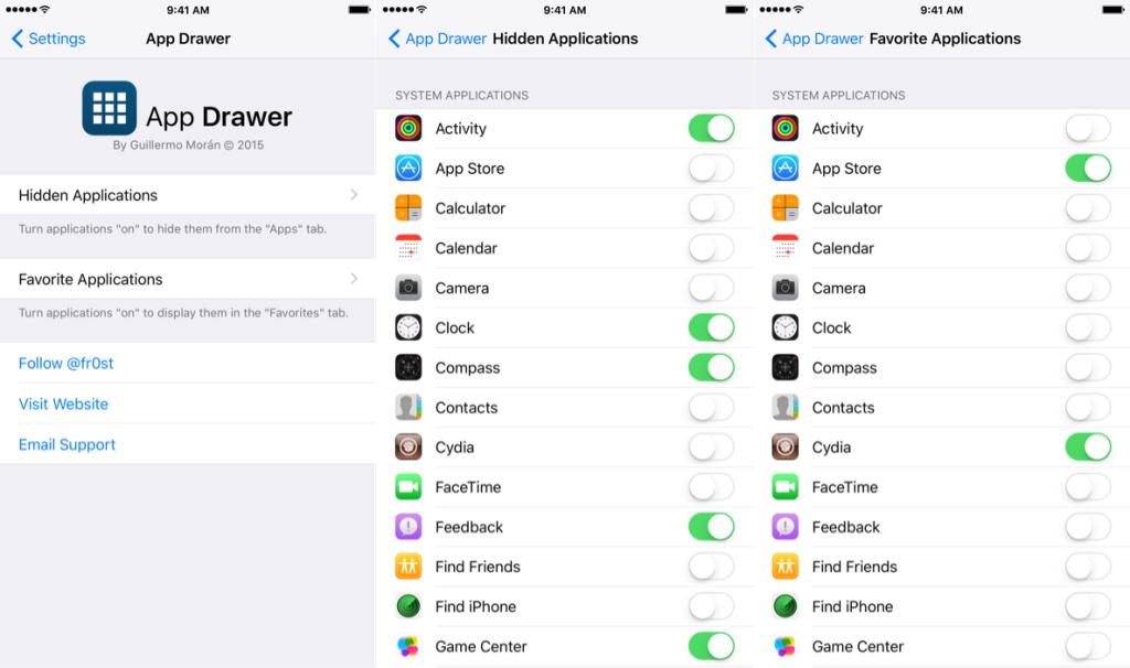 App Drawer 2 1024x606 Cydia : App Drawer vous dote du tiroir dapps dAndroid