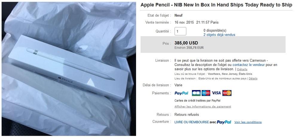 apple pencil une denr e rare qui se paie au prix fort appsystem. Black Bedroom Furniture Sets. Home Design Ideas