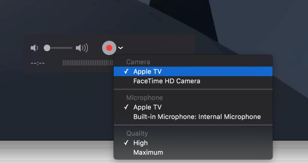 Apple TV QuickTime Recording 1024x542 [TUTO] Enregistrer le flux vidéo dune Apple TV sur son Mac