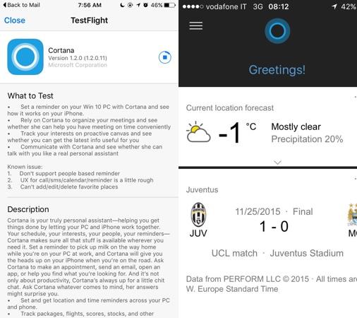 Cortana Beta iPhone Microsoft lance les bêta tests de Cortana sur iOS !