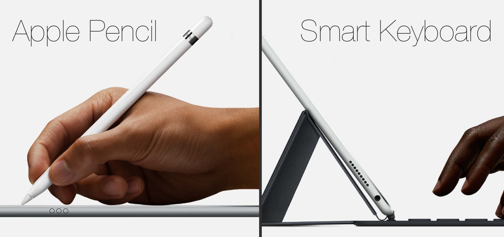 apple pencil smart keyboard iPad Pro : premières impressions sur la tablette XXL