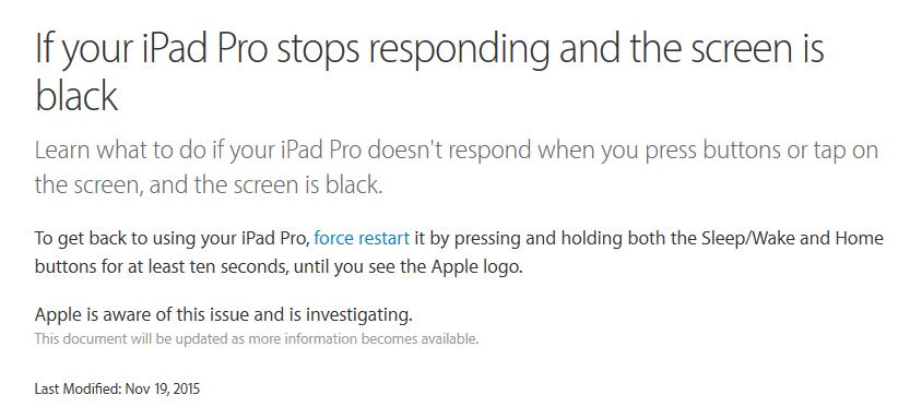 apple support ipad pro plantage iPad Pro : une solution déployée pour enrayer le plantage en charge