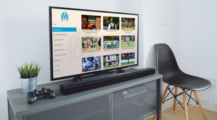 apple tv om Apple TV : lOM (Marseille) est la première équipe à livrer son App !