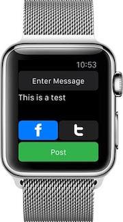 apple watch doublepost Apple Watch : statuts Facebook et tweets avec DoublePost !