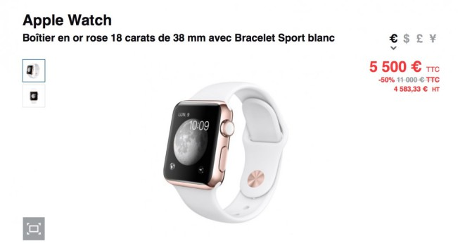 black friday colette e1448613147537 Black Friday : Colette vend les Apple Watch à moitié prix