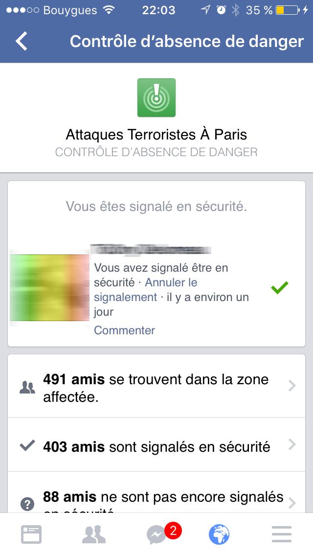 controle secu Le contrôle de sécurité de Facebook lié à des actes terroristes fait polémique