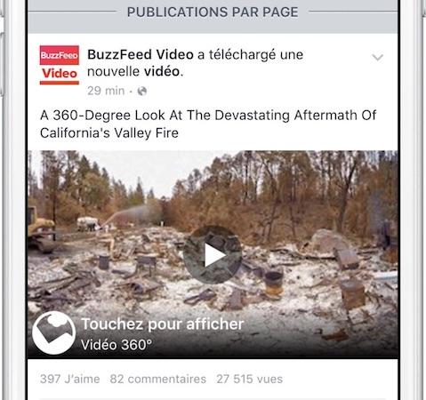 facebook vidéos 360 degres iPhone & iPad : lapplication Facebook propose des vidéos en 360 degrés