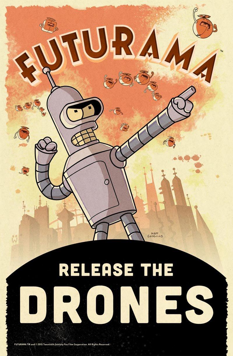 futurama drones Futurama revient sous forme de jeu iOS !