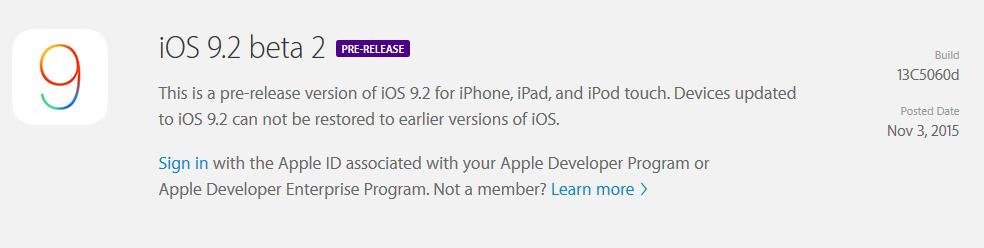 iOS 9 2 beta 2 Apple livre iOS 9.2 en bêta 2 pour les testeurs publics !