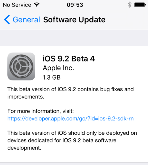ios 9.2 beta 4 e 500x556 iOS 9.2 : Apple livre la bêta 4 pour tout le monde