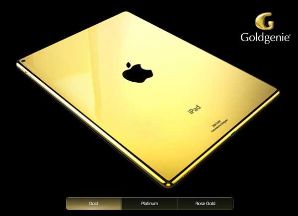 ipad pro goldgenie En images : un sublime iPad Pro en or 24 carats