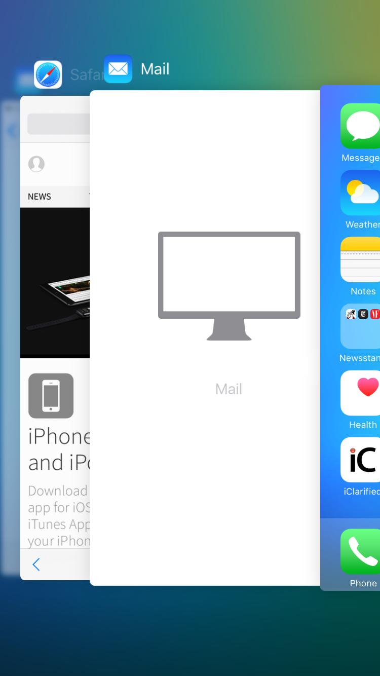 multitache 1 ios Apple livre iOS 9.2 en bêta 2 pour les testeurs publics !