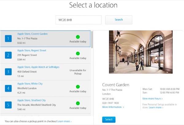 personal pickup royaume uni Apple : Personnal Pick Up débarque au Royaume Uni