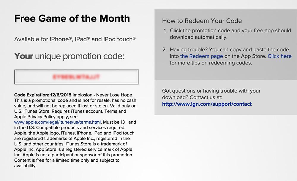 promo implosion1 Comment obtenir le jeu du mois gratuit dIGN : Implosion