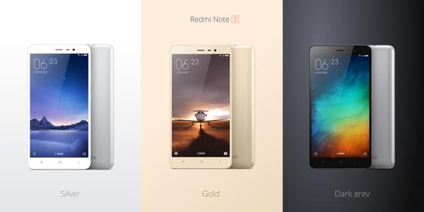 redmi note 3 colors Xiaomi annonce ses nouveaux MiPhone et MiPad
