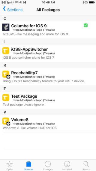 repo columba 320x569 Cydia : Columba pour iOS 9 est maintenant disponible en bêta