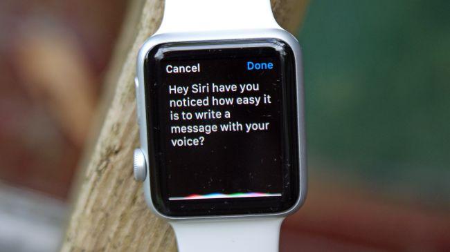 siri apple watch Apple Watch : statuts Facebook et tweets avec DoublePost !