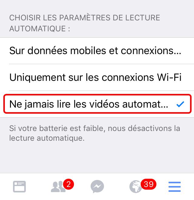 tuto facebook 3 [TUTO] Comment désactiver la lecture automatique des vidéos sur lapp Facebook