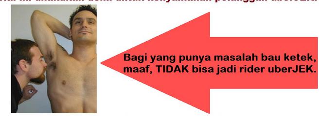 uberjek Insolite : une app iOS pour éviter les motos taxis mal odorants en Indonésie