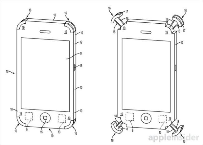 brevet amortisseurs iphone e1449333812522 Apple dépose un brevet pour une coque iPhone flottante