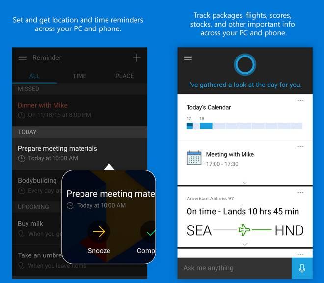 cortana iphone l Cortana vient tenir compagnie à Siri dès mercredi