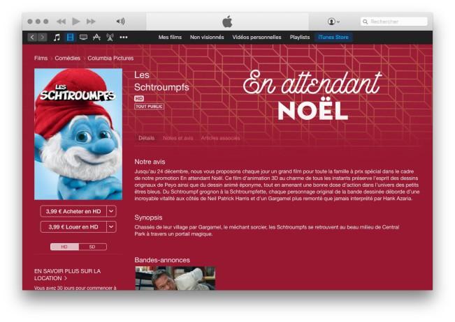 itunes store en attendant noel e1449047472486 Jusquà noël, un film à petit prix par jour sur iTunes Store