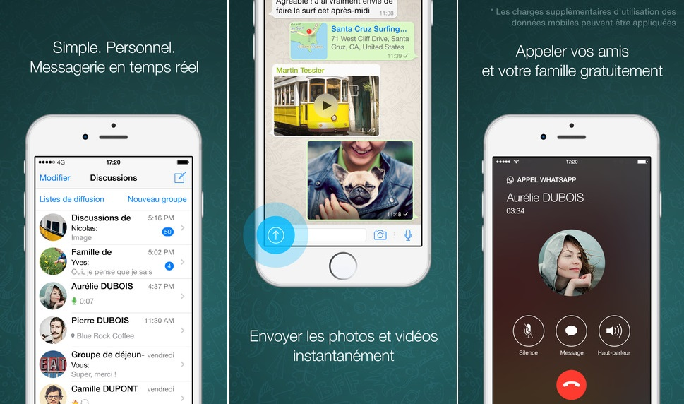 WhatsApp : 3D Touch sinvite dans linterface !