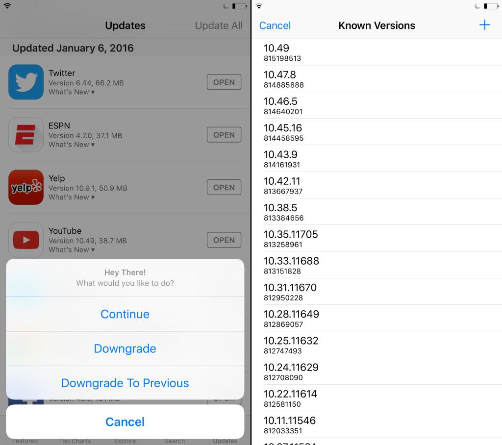 App Admin 1024x908 Cydia : un gestionnaire de versions dapp pour iOS 9, 8 & 7