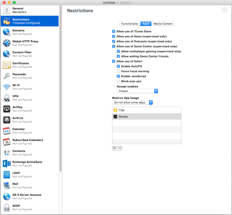 apps natives 780x723 iOS 9.3 supporte officiellement le non affichage dapps natives