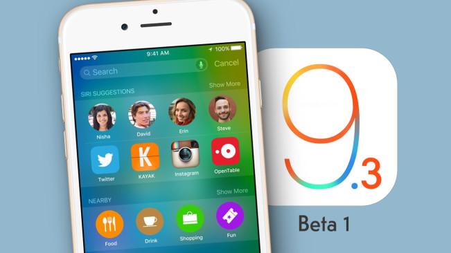 ios 9 3 e1452585405851 iOS 9.3 : la bêta développeurs apporte de nombreuses nouveautés !