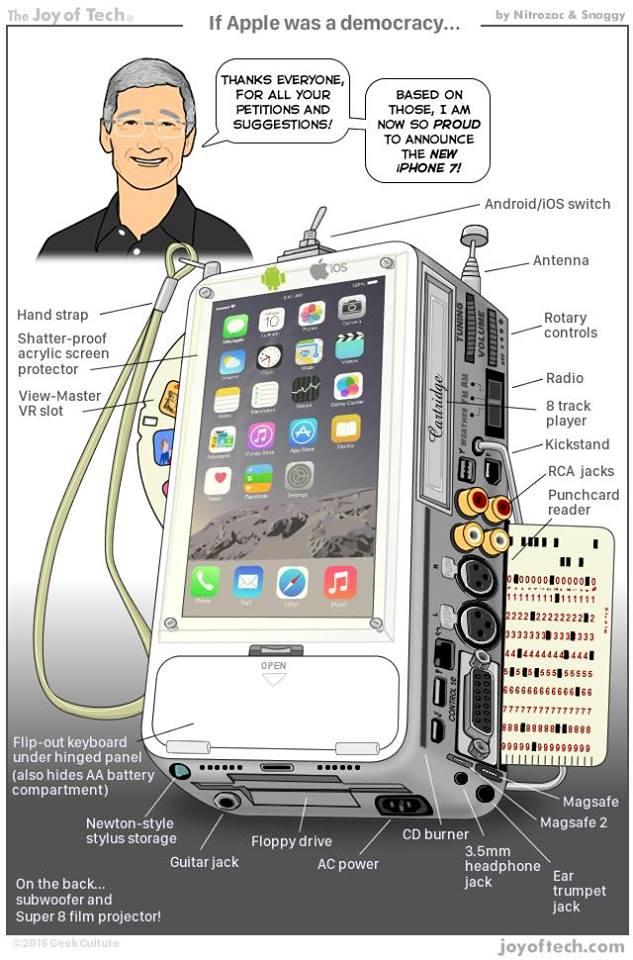 iphone 7 democrate Humour : voici liPhone 7 dont « tout le monde » rêve !