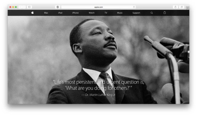luther king 1 e1453116687989 Apple fête le Martin Luther King Day