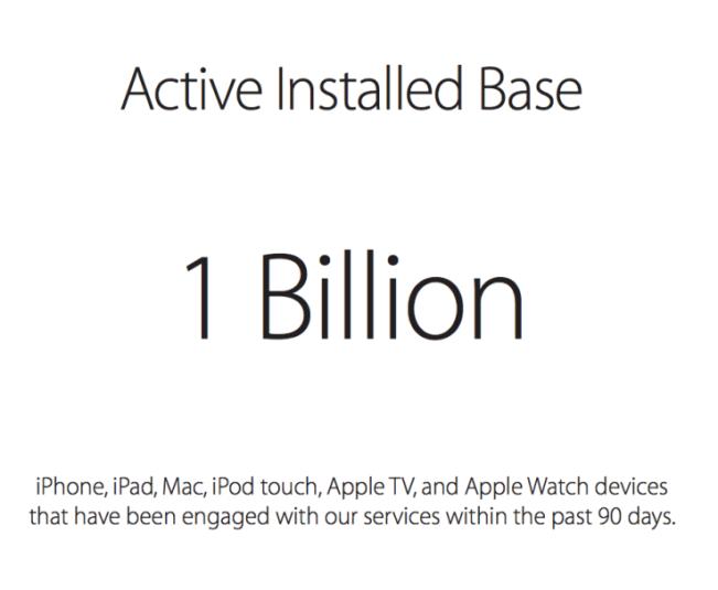 un milliard e1453889831339 1 milliard dappareils Apple activés !