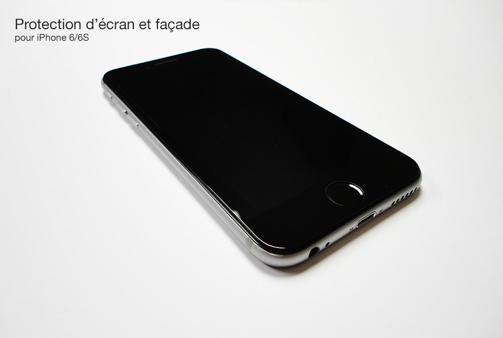 111 1 La 9H protection décran et façade intégrale pour iPhone 6/6S