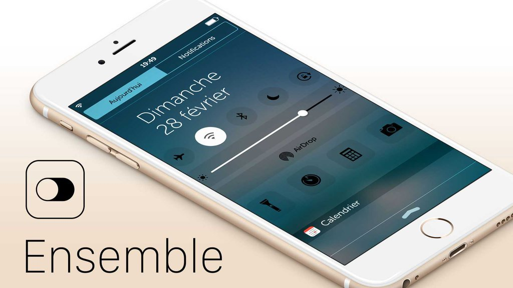 CcZindoW8AEU0Cg [Vidéo] Ensemble permet de fusionner le ControlCenter et le NotificationCenter sur iOS 9