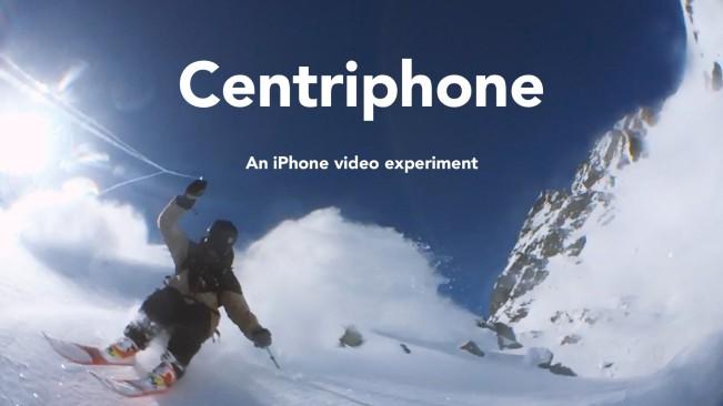 centriphone e1454931786994 Vidéo : une descente en skis filmée à liPhone avec un lasso