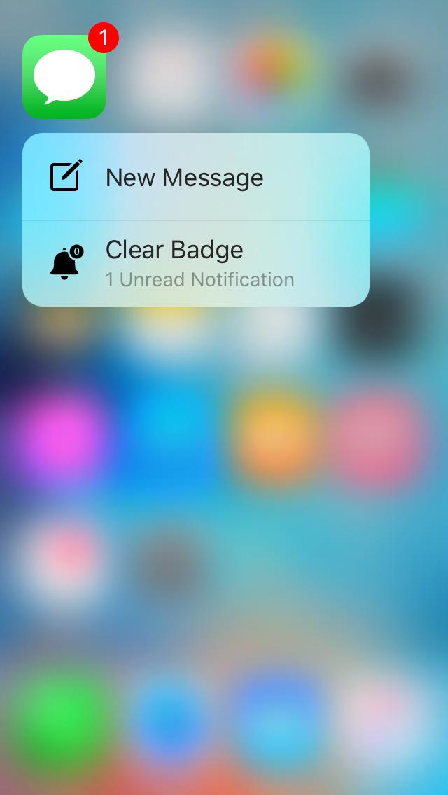 quickclear 3d touch menu to clear badges Les nouveautés Cydia de la semaine !