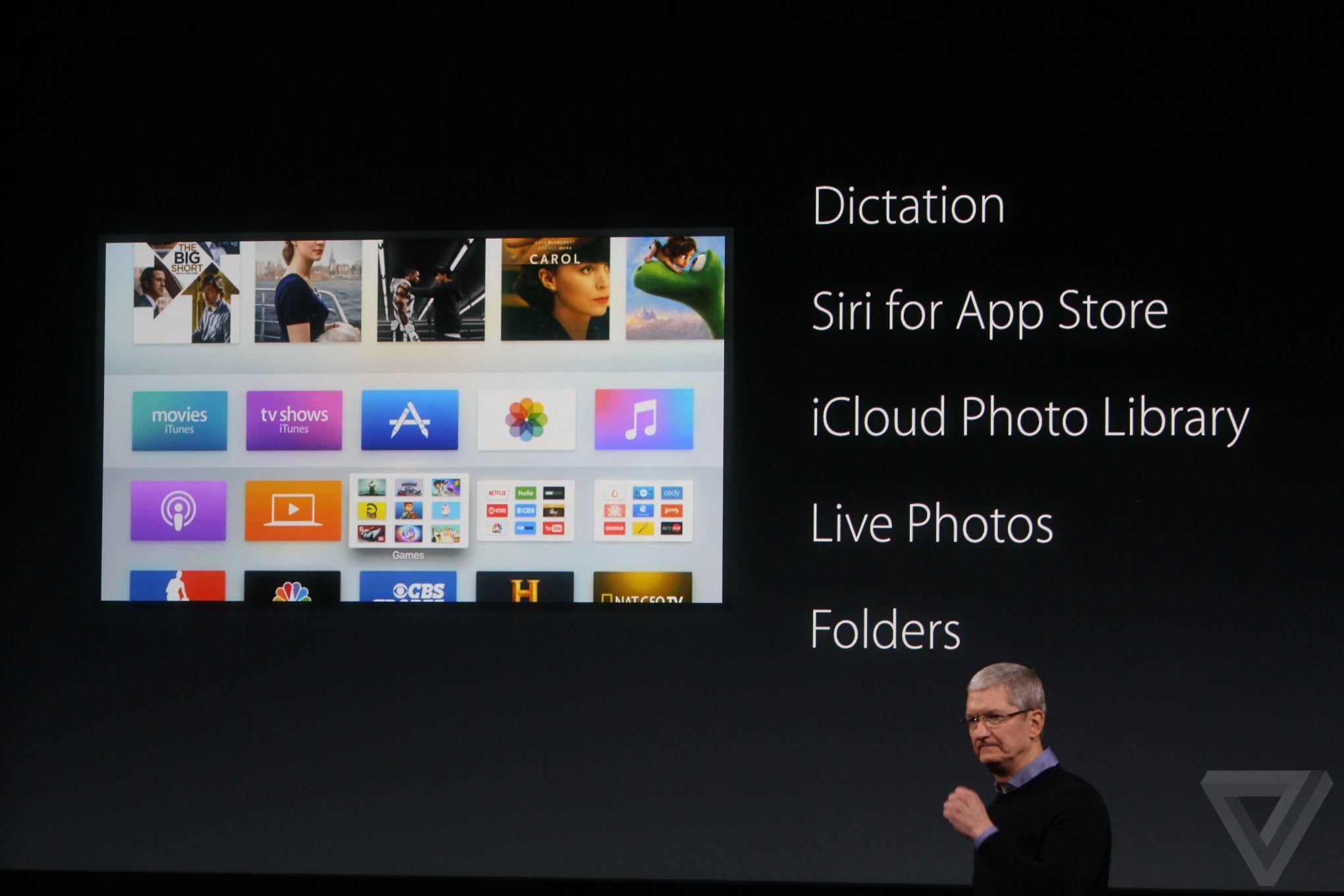 apple tv 4 1 Bilan keynote Let Us Loop You In : iPhone SE, iPad Pro 9,7 pouces...