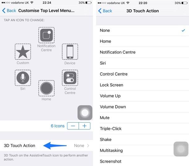 assistivetouch 4 Tutoriel : assigner une action 3D Touch au bouton AssistiveTouch