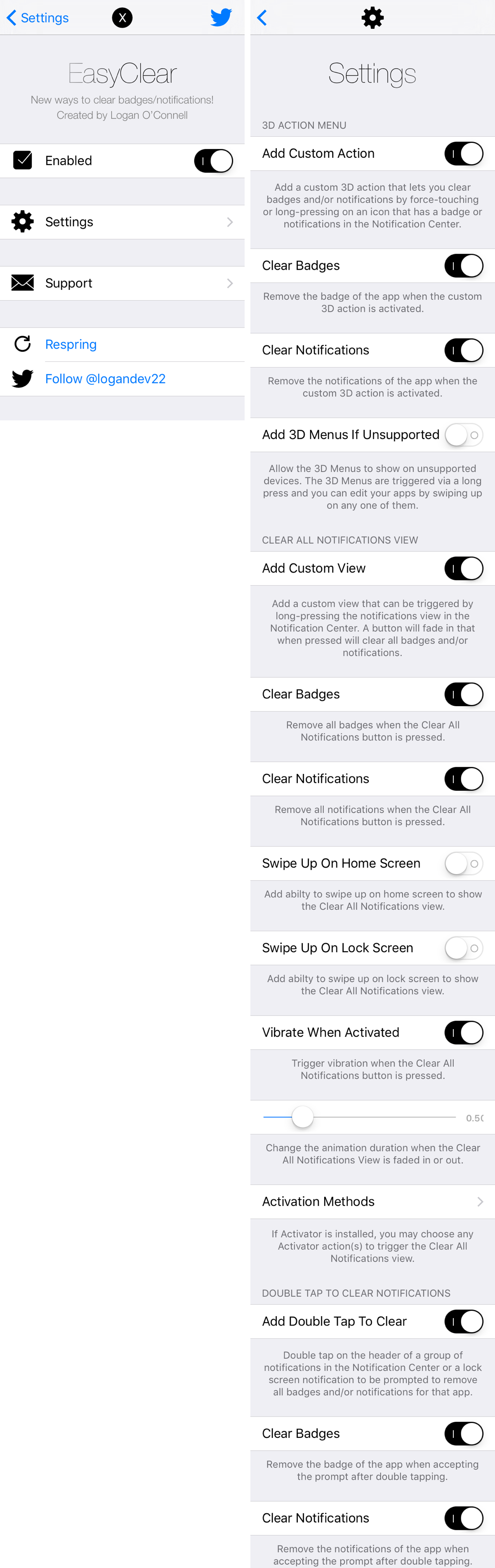 easyclear preferences pane settings Cydia : se débarrasser facilement des notifications intempestives