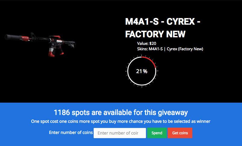 giveaway cyrex [CSGO Skins gratuits] Obtenir des Skins CS:GO gratuitement