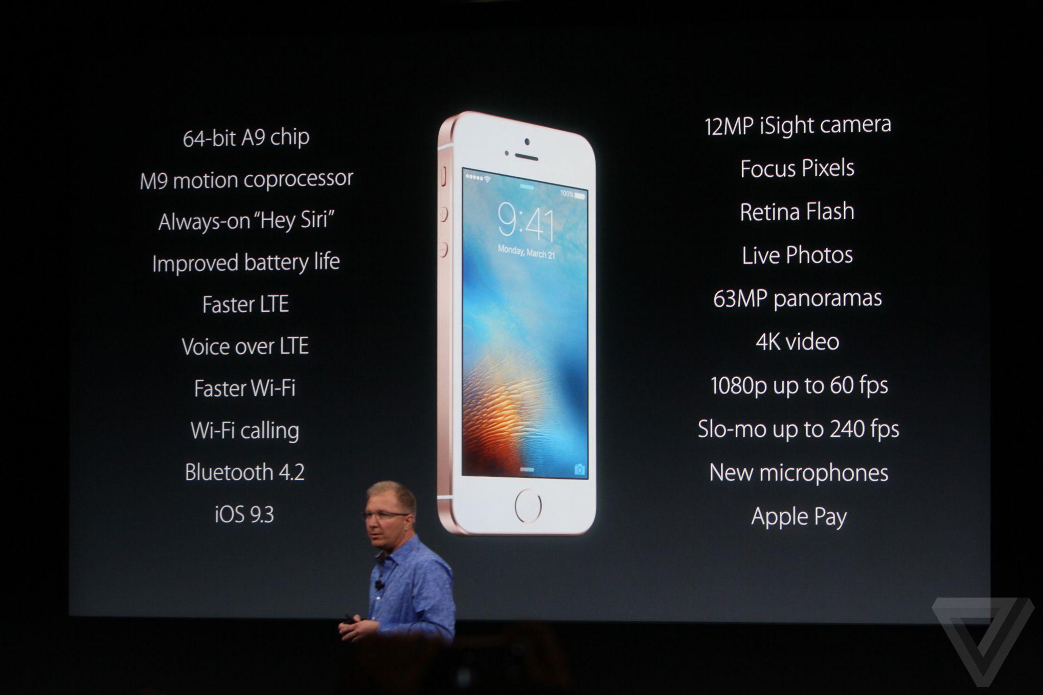 iphone se performance Bilan keynote Let Us Loop You In : iPhone SE, iPad Pro 9,7 pouces...