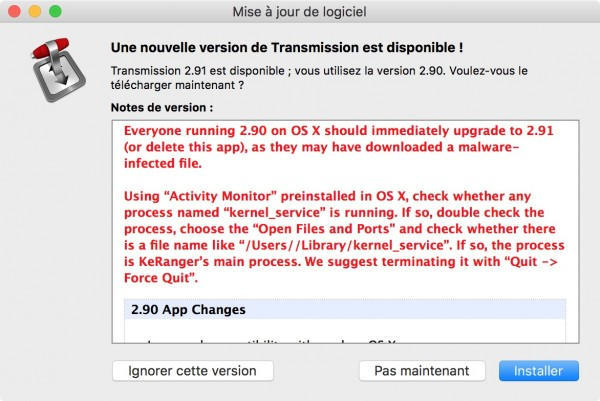 keranger KeRanger : le premier ransomware du Mac éradiqué par Apple
